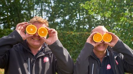 Jason Clench and Craig Williamson of Barn Farm Drinks have launched an orange juice to join their ra