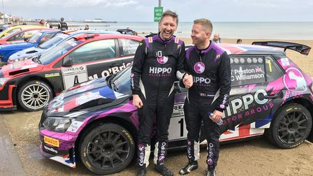 The leading Corbeau Seats Rally crew in Tendring after two loops of stages at the 2019 event Picture