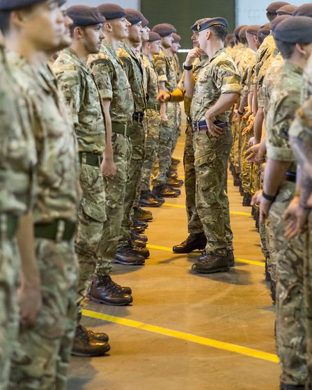 The members of 1 Squadron RAF Regiment undergo beard inspection at RAF Honington Picture: SAC JAMES