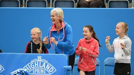 Judy Murray supporting the Rally for Bally event at Queens Tournament. Picture: ELENA BALTACHA FOUND