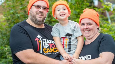 Paul and Caren Thompson and their 'miracle son' Alfie Picture: MARK HEWLETT