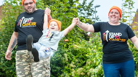 Cancer survivor Paul Thompson and his family are supporting Stand Up To Cancer Picture: MARK HEWLETT