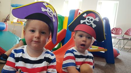 Capel Community Church held a twins and triplets pirate party! picture: RACHEL EDGE
