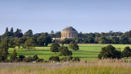 Distant view of the Rotunda seen across the park from the south at Ickworth, Suffolk Picture: NATION