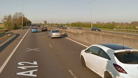 A stretch of the A12 has been closed at Witham as Essex Police deal with the scene of a serious acci