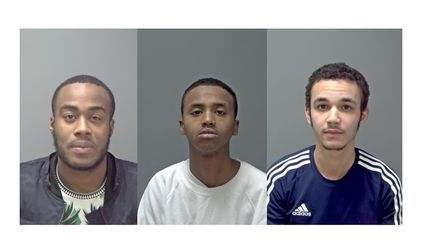 Rhyone Hinkson, 23, Mohamed Abdullahi, 20, and Michael Martin, 18, were all jailed for their part in