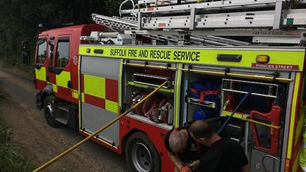 Firefighters have been called to a blaze in Tannington, near Framlingham Picture: RACHEL EDGE