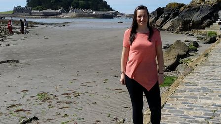 Kelly is now a healthy size 8 and loves going shopping for clothes. Picture: KELLY CANNING