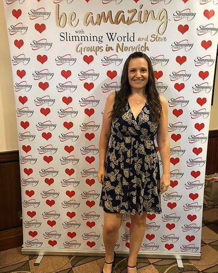 Kelly Canning won 'woman of the year' at her Slimming World Group in Martlesham. Picture: KELLY CANN