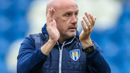 Colchester United boss, John McGreal, whose U's team face Tottenham in a sell-out Carabao EFL Cup ti
