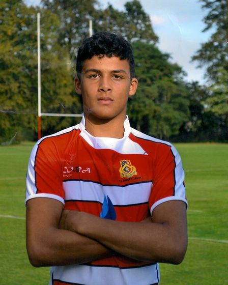 Lewis Ludlam played rugby while studying at St Joseph's College in Ipswich Picture: ST JOSEPH'S COLL