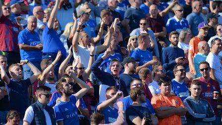 Ipswich Town fans are giving the side tremendous support home and away. Picture: PAGEPIX LTD