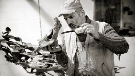 Sculptor Laurence Edwards whose work will be featured in a new film at Flipside