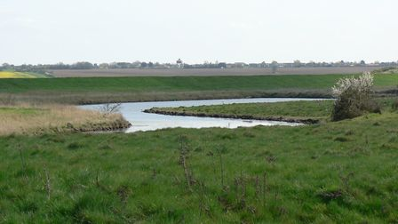 Views of the Blackwater Estuary from Home Farm, Peldon, near Colchester, which is being offered up f