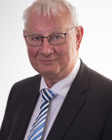 Councillor Tony Goldson chaired the meeting at Endeavour House Picture: SUFFOLK COUNTY COUNCIL