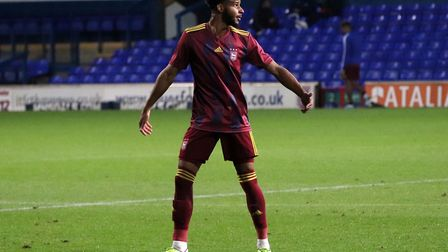 Barry Cotter featuring forTown U23s against Nottingham Forest at Portman Road Picture: ROSS HALLS