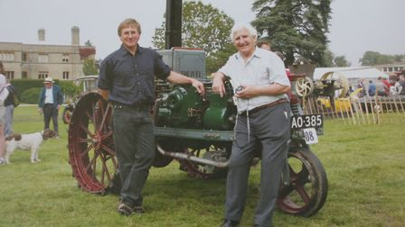 John Moffitt with his son, Peter, and the Ivel Picture: COURTESY OF STUART GIBBARD