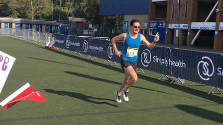 Chris Thompson on his way to victory at the Simplyhealth Great East Run. Picture: CARL MARSTON