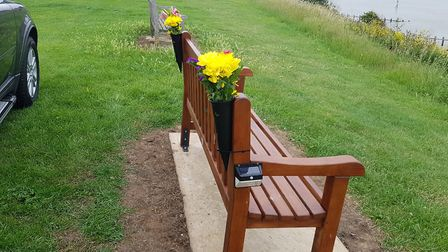 The family have spent thousands having the bench installed and repairing it Picture: BARRY GARNHAM