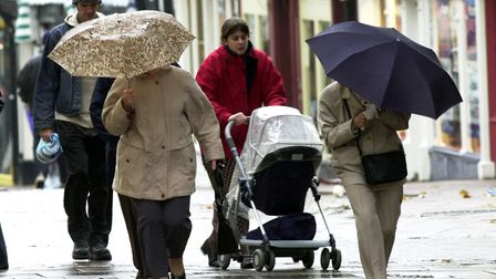 It will be a very wet day across Suffolk and Essex today as the Met Office issues yellow weather war
