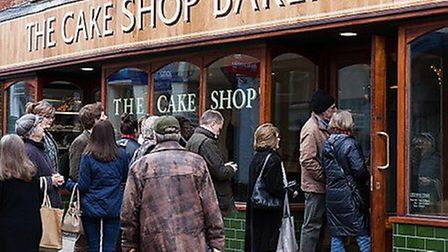 The Cake Shop Bakery in Woodbridge has a strong fanbase with many loyal customers Picture: ARCHANT\\
