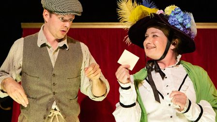 Joseph Phelps and Sally Ann Burnett in Oh What A Lovely Food War! which is half of an Eastern Angles