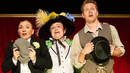 The cast of Oh What A Lovely Food War! which is part of Eastern Angles autumn tour Photo: Mike Kwasn