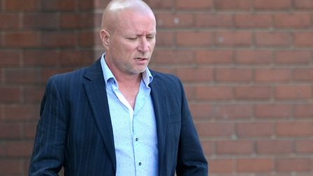 Jason Dixon leaving Suffolk Magistrates' Court after admitting driving a McLaren 720S sports car at