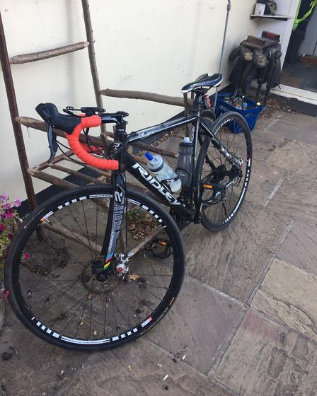 The £1,500 bike which was stolen from Beth Maskel's house days before the challenge. Picture: JENNY