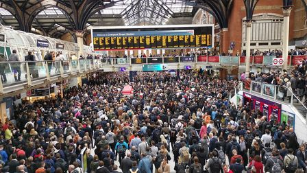 Flooding at London Liverpool Street is causing chaos for commuters and Tottenham Hotspur fans Pictur