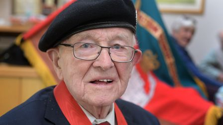 Former Royal Tank Regiment officer and former Ipswich Star editor Tony Pyatt, who has celebrated his