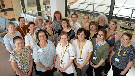 The Speech and Language Therapy Team at Ipswich and East Suffolk were awarded Team of the Year Pictu