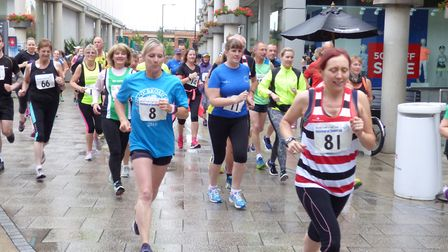 The Festival of Sport 5km in Charter Square in Bury St Edmunds Picture: BOB REASON