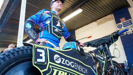 Cameron Heeps in the pits. Picture: Steve Waller