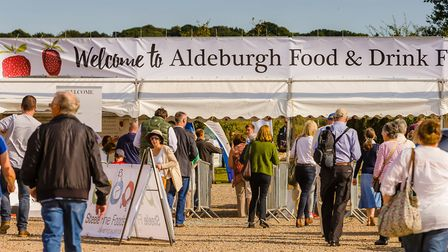 Visitors arriving at a previous Aldeburgh Food and Drink Festival Picture: ALISTAIR GRANT/BOKEH PHOT