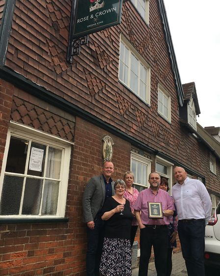 The Rose and Crown is a stone's throw from Greene King's historic brewery in Bury St Edmunds Picture