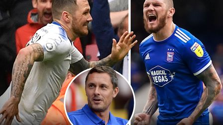 James Norwood was a target of former Ipswich Town manager Paul Hurst (inset). Picture: PA/ARCHANT