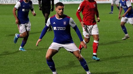 Luke Garbutt pictured duringTown U23s' game against Charlton on Monday Picture: ROSS HALLS