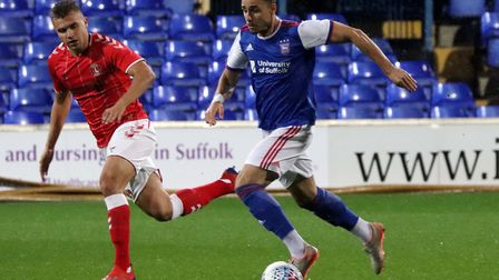 Anthony Georgiou in action duringTown U23s game against Charlton Picture: ROSS HALLS
