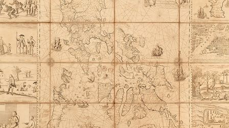 The 1734 Murillo Velarde map of the Philippines which sold for �260,000 at a Colchester auction. Pic