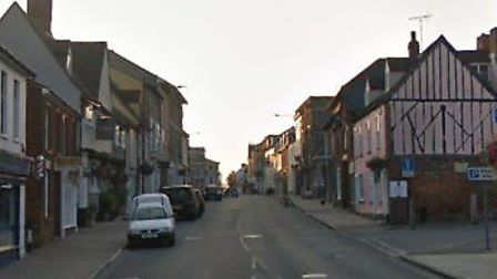 The two men were arrested in Risbygate Street, Bury St Edmunds Picture: GOOGLE MAPS