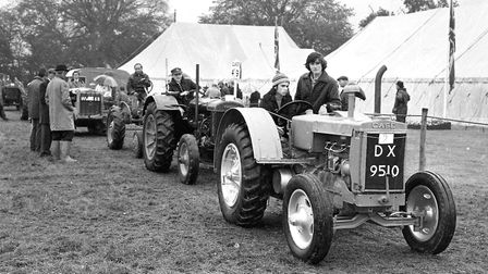 Vintage tractors at the Tendring Show staged at Lawford in 1974 Picture: NEWLING GOODE
