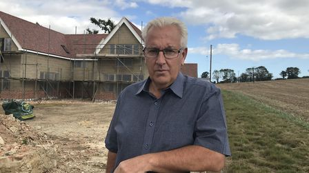 Graham Lacey says his dream �500k home will be wrecked by planned relief road Picture: Lauren De Boi