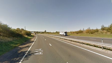 The driver was driving in the wrong direction on the A14 near Haughley Picture: GOOGLE MAPS