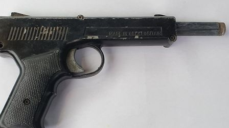 Police said the gat gun was seized by officers in Red Lodge. Picture: NORFOLK AND SUFFOLK ROADS AND