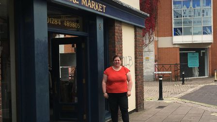 Lindsay Foreman outside Furniture Market, which is closing on October 18 Picture: MARIAM GHAEMI