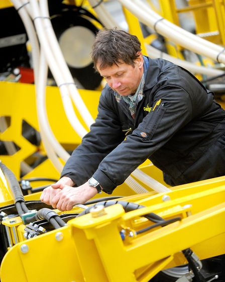 Suffolk manufacturers have been boosted by exports helped by the falling value of the pound, but lon