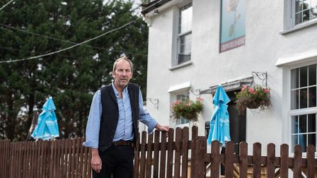 Landlord of the Crowfield Rose, Glen Hughes,says his business has been severely impacted by the ro