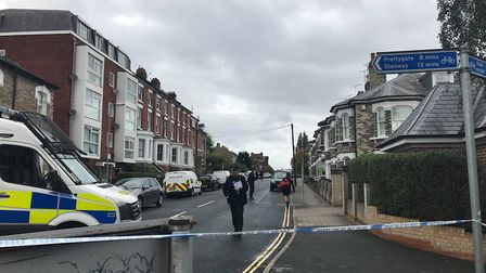 Officers found two men dead inside a property in Colchester, a third was found in a car outside Pict