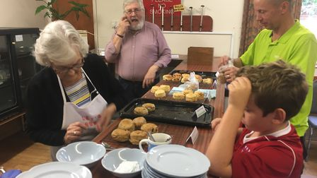 The special scones proved popular with local residents Picture: PHILIP TALLENT